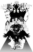 Batman The Court of Owls Black and White by RADMANRB