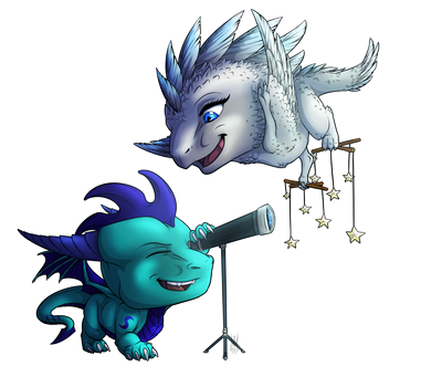 Chibi commission DragonsTEQ by Hatchy-Bridy
