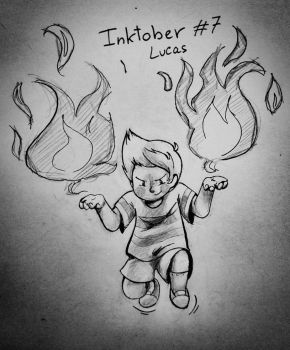 Inktober 7 - Lucas (Mother 3) by Vishnya-Azraq