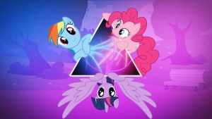 Rainbow Dash,Pinkie Pie,Twilight Sparkle Iluminati by Spntax