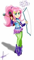 (Anime) Fluttershy Archer  by Dieart77