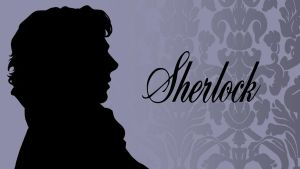 Sherlock Silhouette Wallpaper by FangsAndNeedles