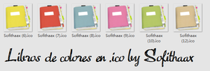 Notebook icons - ICONOS DE LIBROS by SofithaaxTutoriales