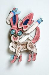 Pokemon Paper Quilling Art 700 Sylveon by wholedwarf