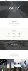 Lumina - Responsive OnePage Muse Template by styleWish