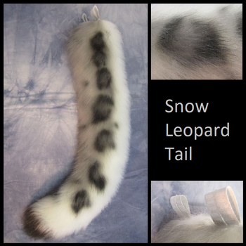 Curvy Snow Leopard Tail - Aibrushed by Lascivus-Lutra