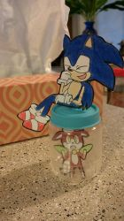 Sonic and Chip Paperchild by ChibiAsh07
