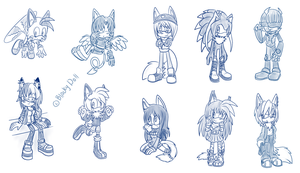 .:10 Sketches:. by Blacky-Doll