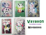 Vayamon notebooks by Sia-the-Mawile