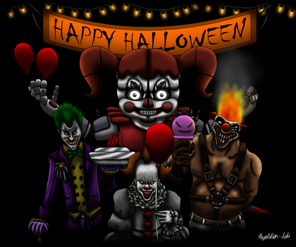 Killer Clown Halloween Party by Playstation-Jedi