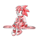 Sketch Request: Classic Amy Rose in Varsity Jacket by keh-arts