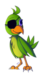 Polly 2 (rockstar Foxy's parrot) by kate-painter