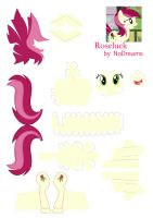 Roseluck papercraft by NoDreams
