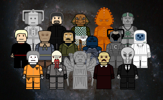 LEGO Doctor Who - Monsters by brobe