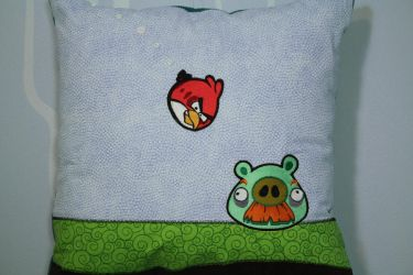 Angry Birds Pillow by tommyfilth