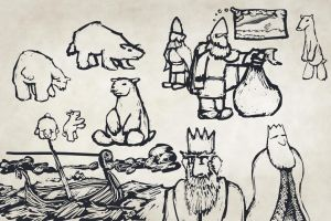 Polar Bear Brainstorm Sketches by Callego