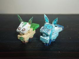 LEGO Pokemon: Leafeon and Glaceon by TommySkywalker11