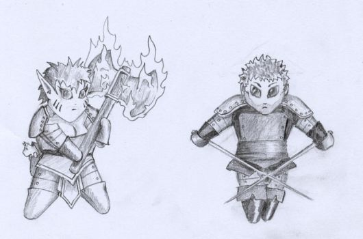 Dungeons and Dragons Chibis by jamindavey
