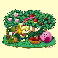 Picking Fruit by KellyCis