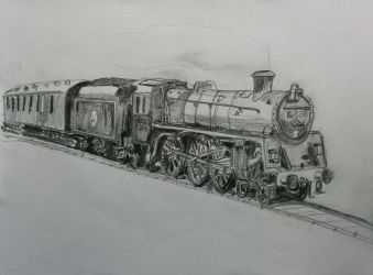 Steam engine drawing by bvencel