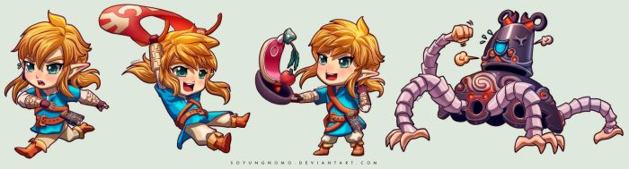 Breath of the Wild - Chibi Set by DasGnomo