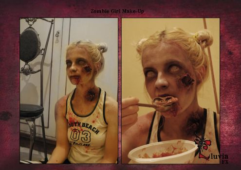 Zombie Girl by LluviaFx