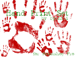 Hand Print set of 16 by byrnfri-resources