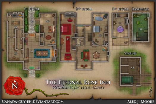 The Eternal Rose Inn Map by Canada-Guy-Eh