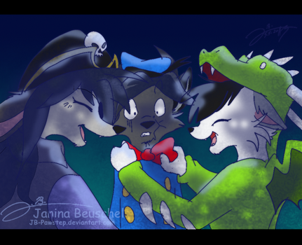 A furry Life -Costume Party. by JB-Pawstep
