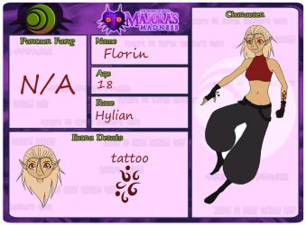 Courage Faction Character Sheet:Florin by luka3orihi