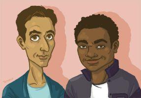 Abed and Troy sketch by TRAVALE