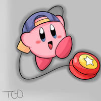 Kirby Tuesday-Yo Yo Kirby by thegamingdrawer