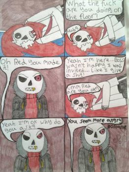 Sans party comic (page 28) by DragonMaster003