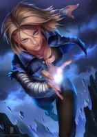 Android 18 By Doubled67 by Adverz