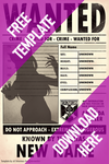 .:F2U:. WANTED poster template - DC by xX-Totentanz-Xx