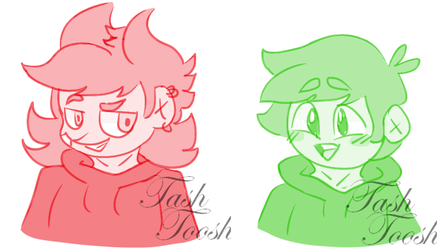 Green and Red by TashToosh