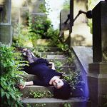 On the stairs by psychiatrique