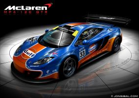 McLaren MP4-12C GTR - GULF by jonsibal