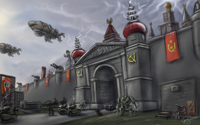 MLP Red Alert - Manescow Fortress Art by CyrilUnicorn