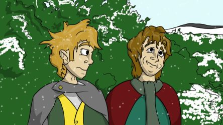 Merry and Pippin by Royalty-Doc