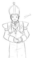 His Holiness -Lineart- by CharlieChan69