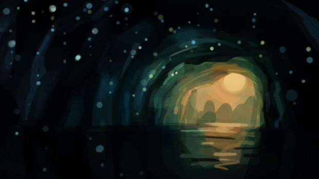 Glow worm cave by tintotet