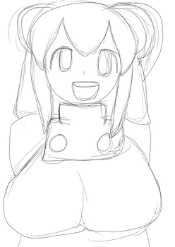 drawing of Roll from Mega man (for X-Harmonie-x44) by Shinyguy909