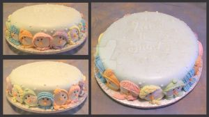 Let it Snow Cake by ginas-cakes