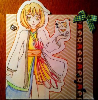 Card for my friend with her character by Akahori