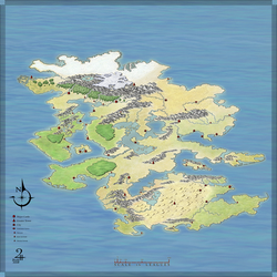 Unlabeled Fantasy Map, Free for Non-Commercial Use by XianPryde