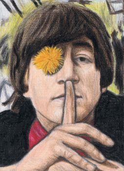 John Lennon says shh by gagambo