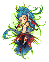 :Ares: Fighting Fish by Chuuchichu