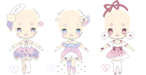 magical outfit adopts | SALE by Hacuubii