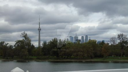Toronto City skyline from boat by Midnight-PowerUser